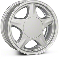 Silver Pony Wheel - 16x7 (87-93; Excludes 93 Cobra) - AmericanMuscle Wheels 28228