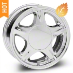 Pony Chrome Wheel - 16x7 (87-93; Excludes 93 Cobra) - American Muscle Wheels 28229