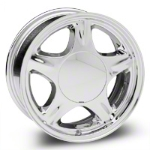 Chrome Pony Wheel - 16x7 (87-93; Excludes 93 Cobra) - AmericanMuscle Wheels 28229