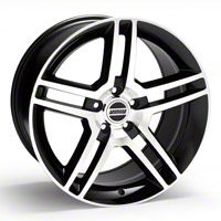 2010 GT500 Style Black Machined Wheel - 19x10 (05-14 All) - American Muscle Wheels R1-916548BM