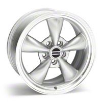Silver Bullitt Wheel - 17x8 (05-10 GT; 05-14 V6) - AmericanMuscle Wheels 28242