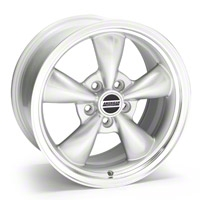 Bullitt Silver Wheel - 17x9 (05-14 V6; 05-10 GT, Excluding GT500) - American Muscle Wheels 28243