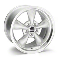Silver Deep Dish Bullitt Wheel - 17x10 (05-10 GT; 05-14 V6) - AmericanMuscle Wheels 28244