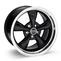 Deep Dish Bullitt Black Wheel - 17x10 (05-14 V6; 05-10 GT, Excluding GT500) - American Muscle Wheels 28245