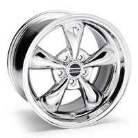 Chrome Deep Dish Bullitt Wheel - 17x10 (05-10 GT; 05-14 V6) - AmericanMuscle Wheels 28246
