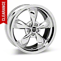 Deep Dish Bullitt Chrome Wheel - 19x8.5 (05-14 GT, V6) - American Muscle Wheels 28249