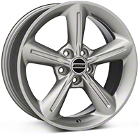 Silver 2010 OE Style Wheel - 18x8 (05-14 GT, V6) - AmericanMuscle Wheels 28255