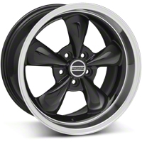 Black Deep Dish Bullitt Wheel - 18x10 (05-14 GT, V6) - AmericanMuscle Wheels 28267