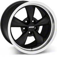Matte Black Bullitt Deep Dish Wheel - 17x10.5 (94-04 All) - AmericanMuscle Wheels 28302