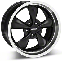Matte Black Bullitt Deep Dish Wheel 18x10 (05-14 GT, V6) - AmericanMuscle Wheels 28305