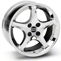 Chrome 1995 Style Cobra R Wheel - 17x10 (87-93; Excludes 93 Cobra)