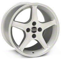 Silver 1995 Style Cobra R Wheel - 17x10 (87-93; Excludes 93 Cobra)
