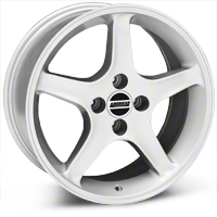 1995 Cobra R Style Silver Wheel - 17x8 (87-93; Excludes 93 Cobra) - American Muscle Wheels 28314