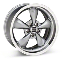 Anthracite Deep Dish Bullitt Wheel - 18x10 (05-14 GT, V6) - AmericanMuscle Wheels 28266