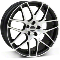 AMR Matte Black Machined Wheel - 19x9.5 (05-14 All) - American Muscle Wheels 28338