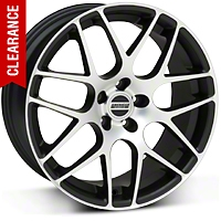 Matte Black Machined AMR Wheel 19x9.5 (05-14 All) - AmericanMuscle Wheels 28338