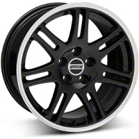 Black 10th Anniversary Cobra Style Wheel - 17x9 (05-14 GT, V6)