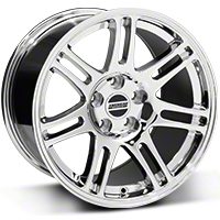 Chrome 10th Anniversary Cobra Style Wheel - 17x10.5 (94-04 All) - AmericanMuscle Wheels 28343