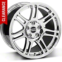 10th Anniversary Cobra Chrome Wheel - 17x10.5 (94-04 All) - American Muscle Wheels 28343