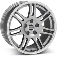 10th Anniversary Cobra Style Anthracite Wheel - 17x10.5 (94-04 All) - American Muscle Wheels 28344