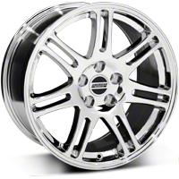 10th Anniversary Cobra Style Chrome Wheel - 18x9 (94-04 All) - American Muscle Wheels 28346G94