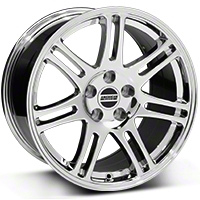 Chrome 10th Anniversary Cobra Style Wheel - 18x10 (94-04 All) - AmericanMuscle Wheels 28349