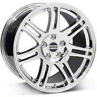 Chrome 10th Anniversary Cobra Style Wheel - 18x10 (05-14 All) - AmericanMuscle Wheels 28352