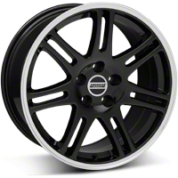 Black 10th Anniversary Cobra Style Wheel - 18x10 (05-14 All) - AmericanMuscle Wheels 28354
