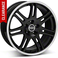 10th Anniversary Style Cobra Black Wheel - 18x10 (05-14 All) - American Muscle Wheels 28354