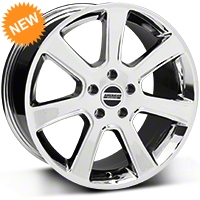 Chrome S197 Saleen Style Wheel - 18x9 (87-93 5 Lug Conversion) - AmericanMuscle Wheels 28355