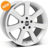 Silver S197 Saleen Style Wheel - 18x9 (87-93 5 Lug Conversion) - AmericanMuscle Wheels 28356