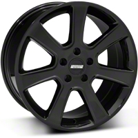 S197 Saleen Style Black Wheel - 18x9 (87-93 5 Lug Conversion) - American Muscle Wheels 28357