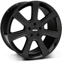 Black S197 Saleen Style Wheel 20x10 (05-14 All) - AmericanMuscle Wheels 28366