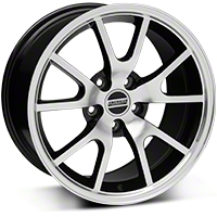 FR500 Style Black Machined Wheel - 17x9 (05-14 V6; 05-10 GT) - American Muscle Wheels V1149-796530BMF