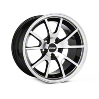 Deep Dish FR500 Style Black Machined Wheel - 17x10.5 (94-04 All) - American Muscle Wheels V1149-716527BMF