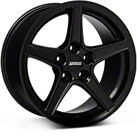 Black Saleen Style Wheel 17x9 (94-04 All) - AmericanMuscle Wheels 28384