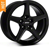 Saleen Style Black Wheel - 17x9 (94-04 All) - American Muscle Wheels 28384