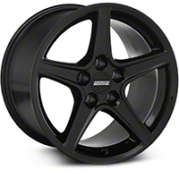 Black Saleen Style Wheel 17x10.5 (94-04 All) - AmericanMuscle Wheels 28385