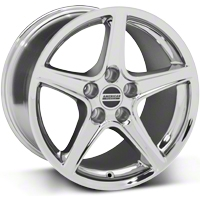 Chrome Saleen Style Wheel 17x10.5 (94-04 All) - AmericanMuscle Wheels 28386