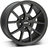 Matte Black FR500 Wheel - 18x9 (94-04 All) - AmericanMuscle Wheels R21-896530MB
