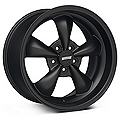 Solid Matte Black Bullitt Deep Dish Wheel 18x10 (05-14 GT, V6)