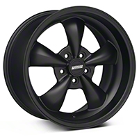 Bullitt Deep Dish Solid Matte Black Wheel - 18x10 (05-14 All, Excluding GT500) - American Muscle Wheels 28484