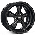 Deep Dish Bullitt Solid Black Wheel - 18x10 (05-14 GT, V6) - American Muscle Wheels 28485