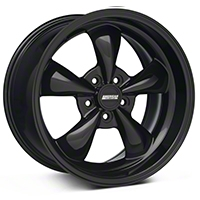 Deep Dish Bullitt Solid Black Wheel - 18x10 (05-14 All, Excluding GT500) - American Muscle Wheels 28485