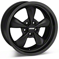 Bullitt Deep Dish Solid Matte Black Wheel - 18x9 (05-14 All, Excluding GT500) - American Muscle Wheels 28486