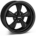 Bullitt Deep Dish Solid Matte Black Wheel - 18x9 (94-04 All)