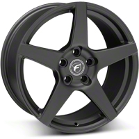 Forgestar CF5 Monoblock Matte Black Wheel - 18x9 (05-14 All) - Forgestar 1890CF5MATTEBLACK0512