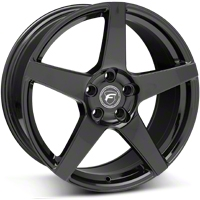 Piano Black Forgestar CF5 Monoblock Wheel - 19x9 (05-14 All) - Forgestar 1990CF5GLOSSBLACK051