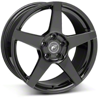 Piano Black Forgestar CF5 Monoblock Wheel - 18x9 (05-14 All) - Forgestar 1890CF5GLOSSBLACK051