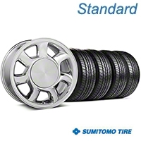 93 Cobra Chrome Wheel & Sumitomo AS Tire Kit - 17x8.5 (87-93; Excludes 93 Cobra) - American Muscle Wheels KIT||101005||63003